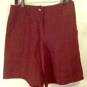 NWT Harve Bernard 100% Linen Copper Short Pants